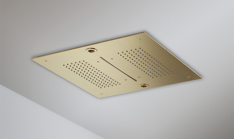 SATURNO Concealed Showerhead finissh Gold